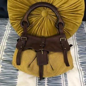 Hugo Boss Perforated Leather & Wood Bag